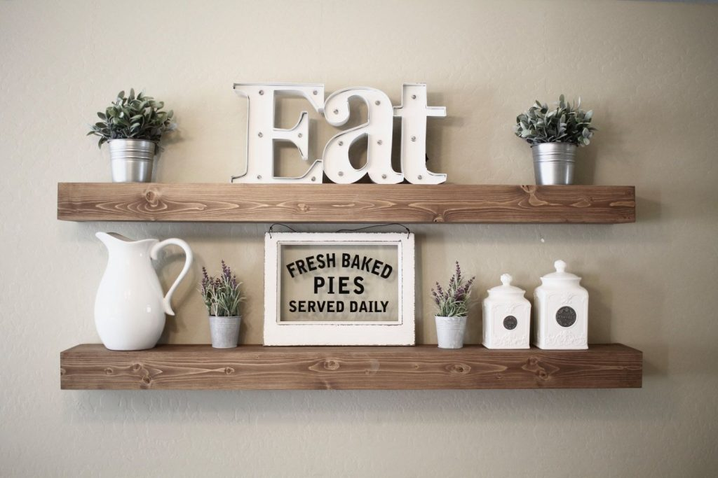 Rustic Floating Shelf Idea For Dining Room Wall For The Home
