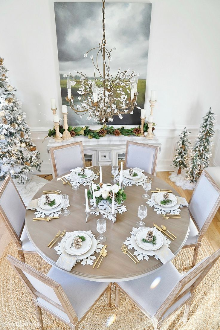 Rustic Glam Christmas Dining Room Amazing Diy Projects Pinterest