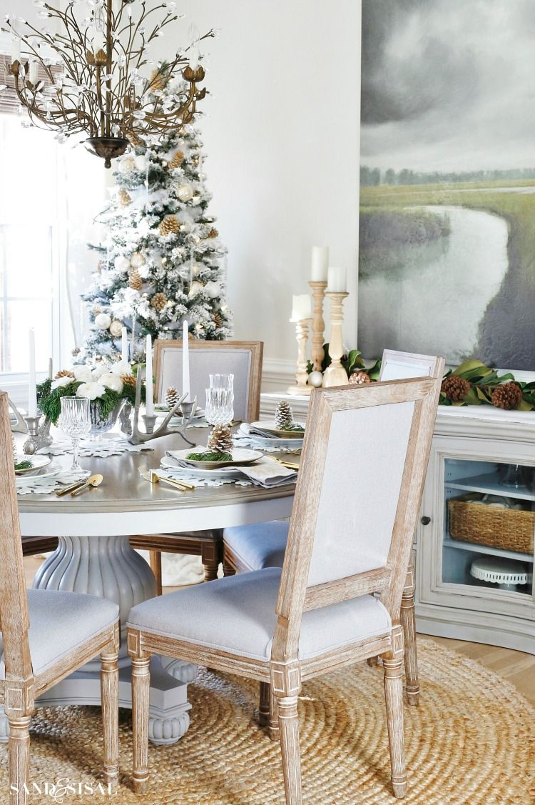 Rustic Glam Christmas Dining Room Christmas Pinterest