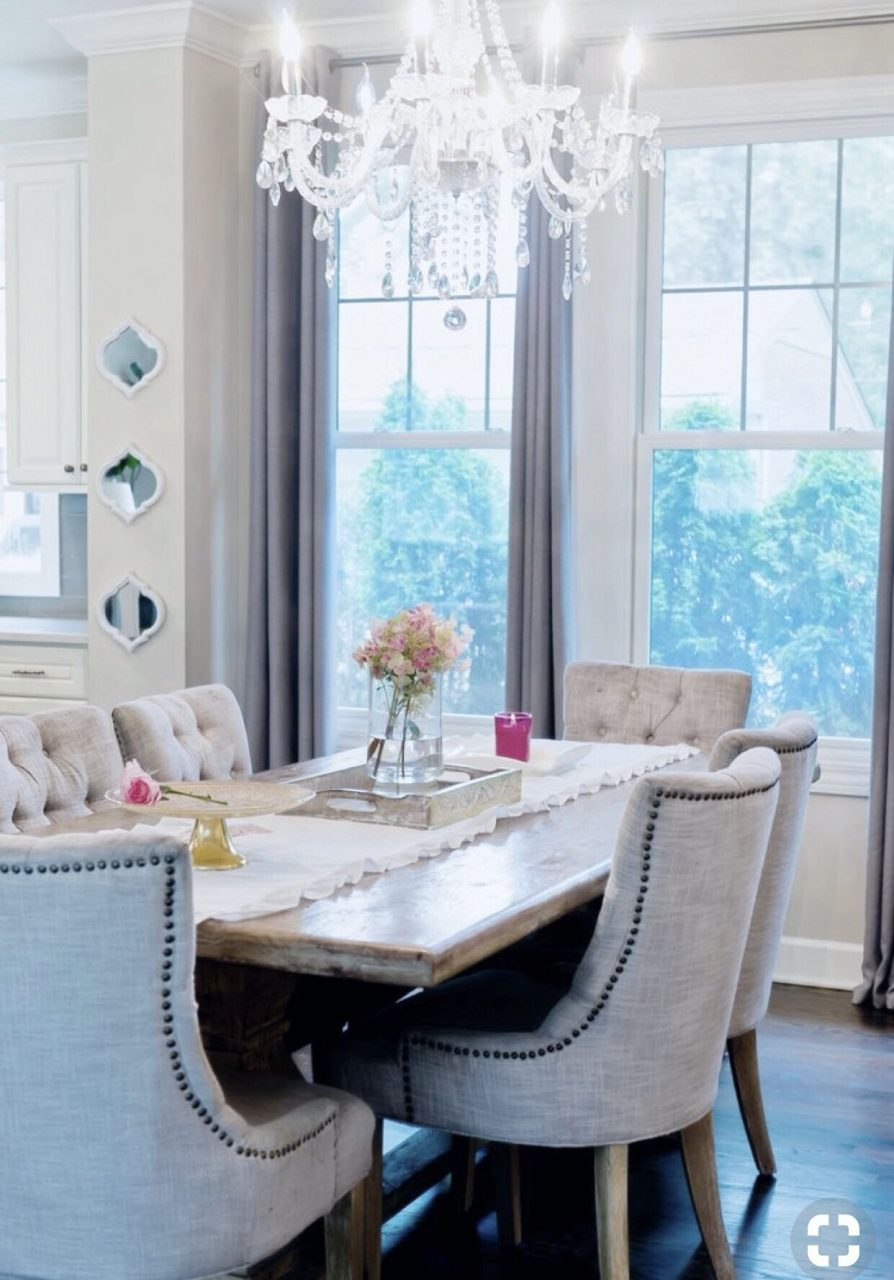 Rustic Glam Dining Room Decor Ideas White And Grey Decor Diningroom