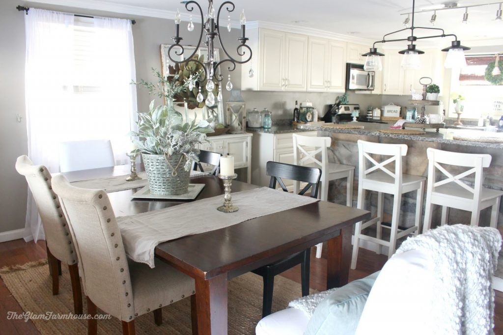 Rustic Glam Dining Room Tour With Before Afters The Glam Farmhouse