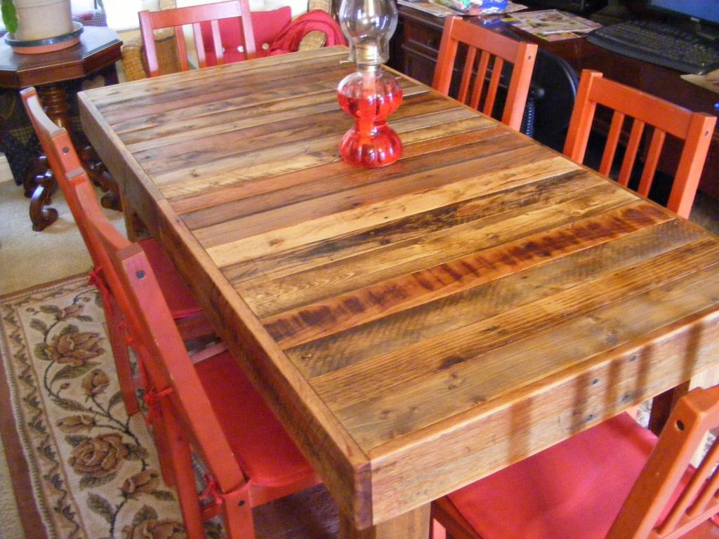 Rustic Reclaimed Wood Dining Table Or Desk 60 X 30 X 30 High Use