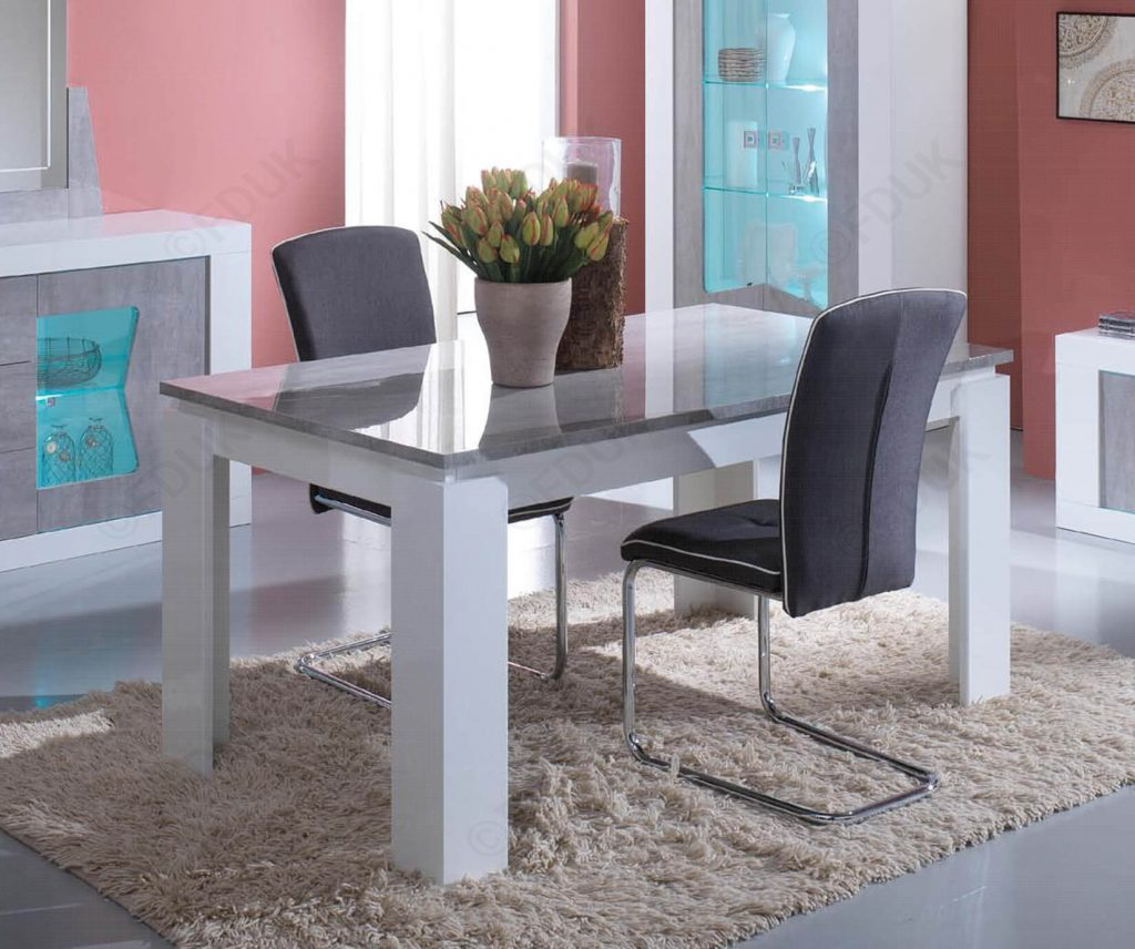San Martino Las Vegas Grey Dining Table With 4 Metal Chairs Fduk Best Price Guarantee We Will Beat Our Competitors Price Give Our Sales Team A Call