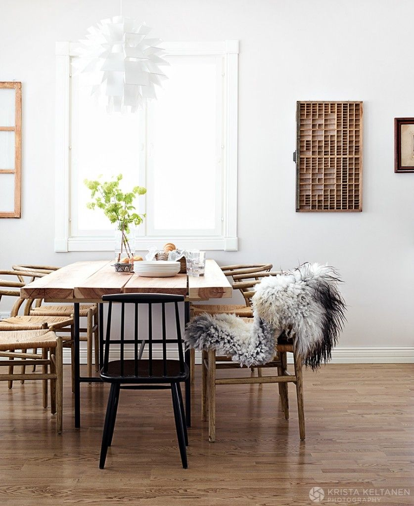 Scandinavian Dining Room Wishbone Chairs Photo Krista Keltanen