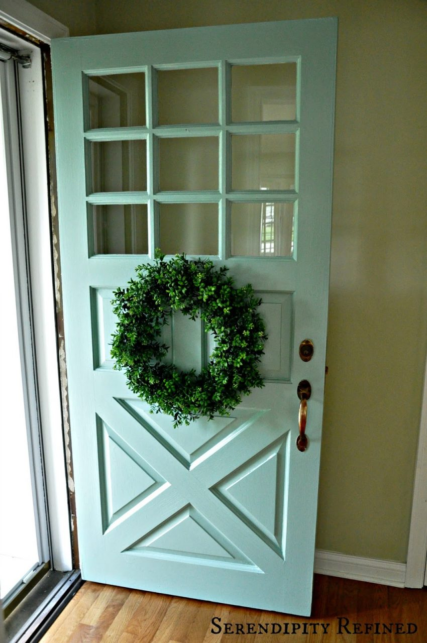 Serendipity Refined Blog Turquoise Painted Wood Exterior Doors