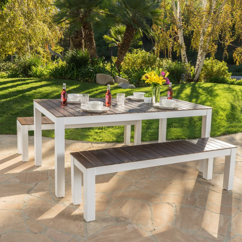 Shop Bali Outdoor 3 Piece Wood Picnic Set Christopher Knight Home