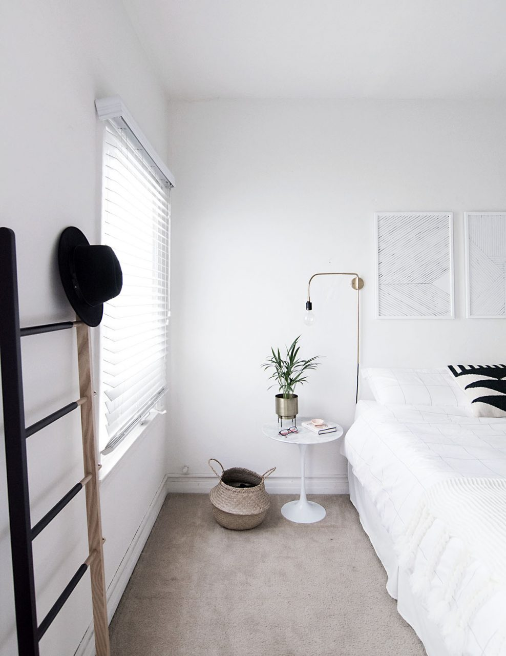 Simple Minimal Bedroom Homey Oh My