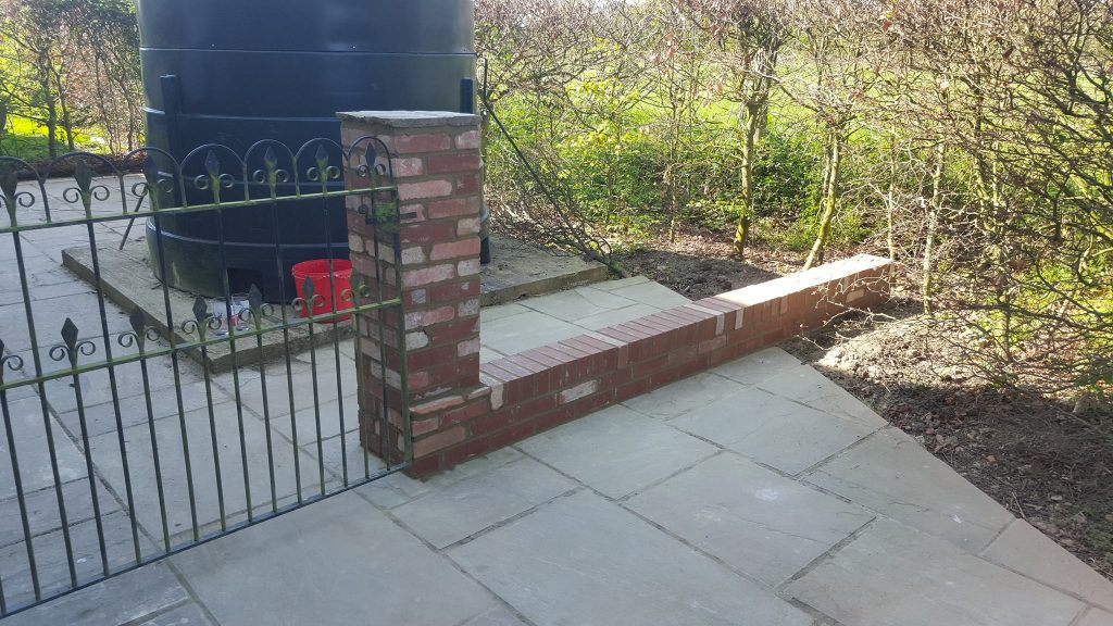 Small Brick Wall With Pillar And Patio Recent Projects