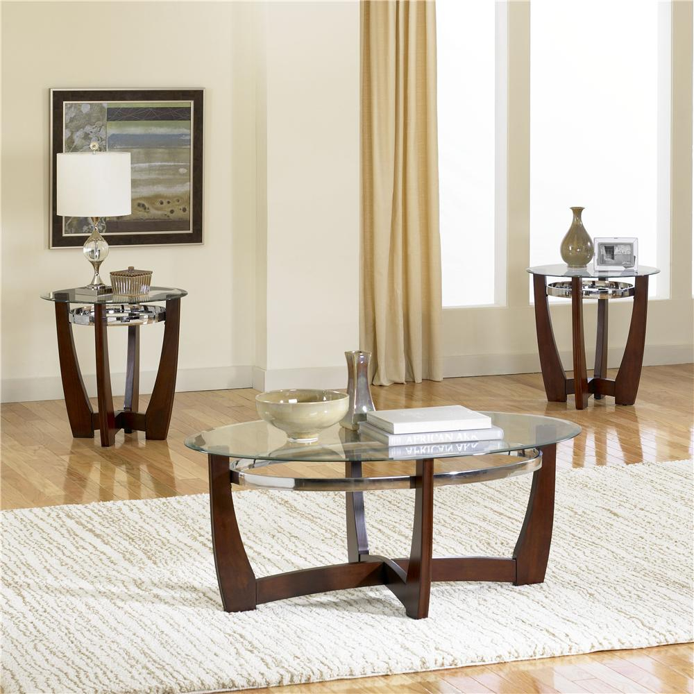 Standard Furniture Apollo 22993 3 Pack With Glass Top Cocktail Table