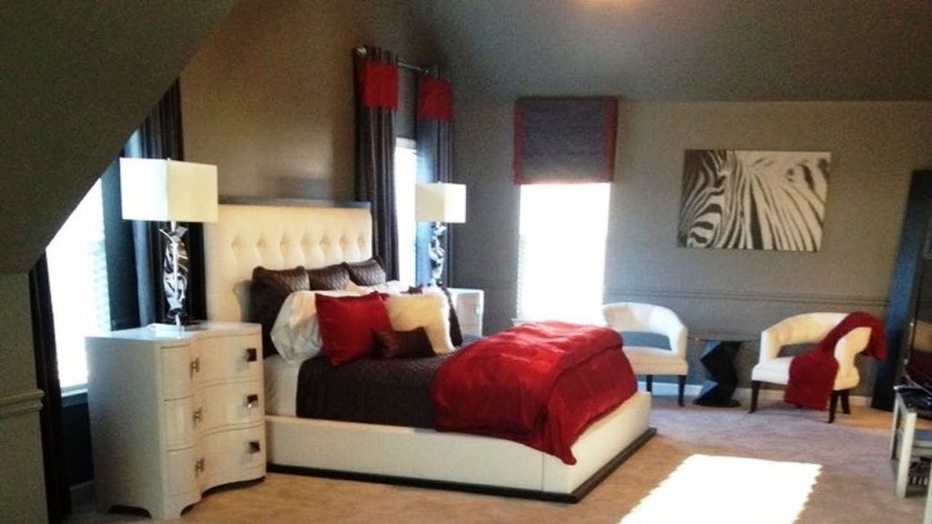 Stunning Red Black And White Bedroom Decorating Ideas Youtube