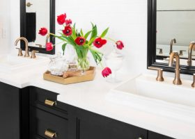 Master Bathroom Vanity Black