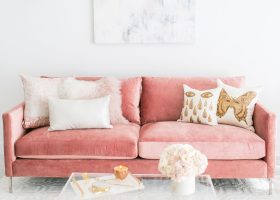 Images of Living Rooms with Pink Velvet Sofas