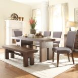 Terra Vista Wood Dining Table Only In Casual Walnut Humble Abode