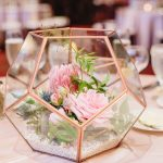 Geometric Terrarium Wedding Centerpieces