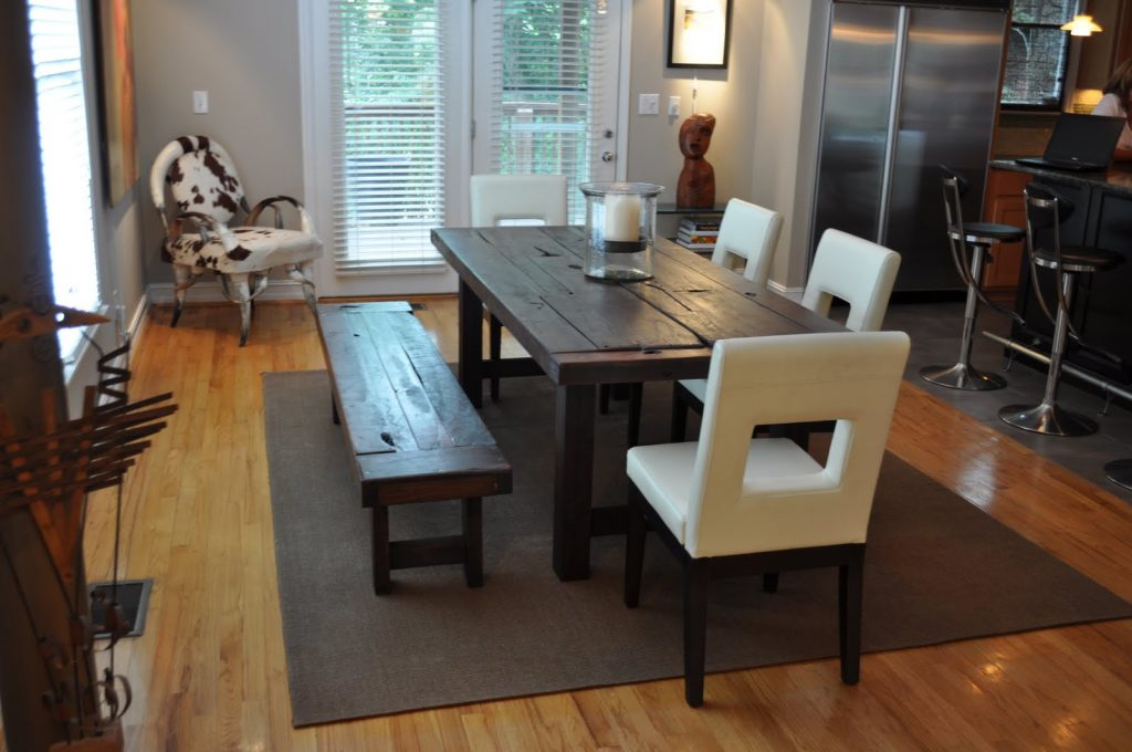 The Clayton Dining Table Atlanta Georgia Rustic Trades Furniture