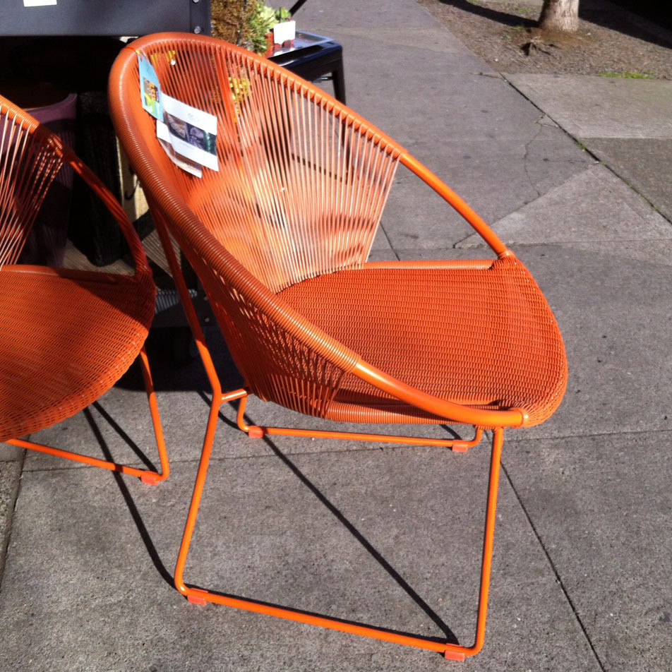 The Perfect Orange Outdoor Chair Portland Monthly