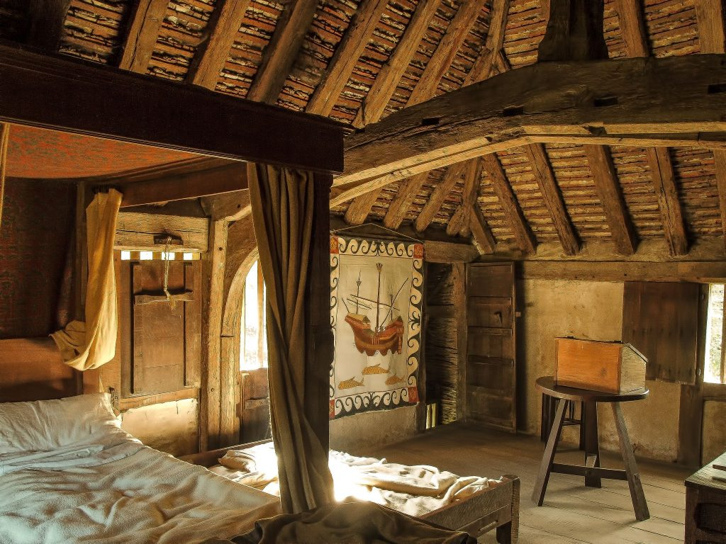 This Is A Middle Class Style Bedroom Common From The Medieval Era