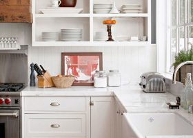 Open Upper Kitchen Cabinets