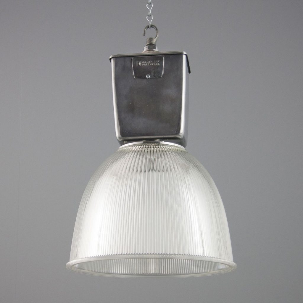 Vintage Industrial Pendant Light Holophane For Sale At Pamono