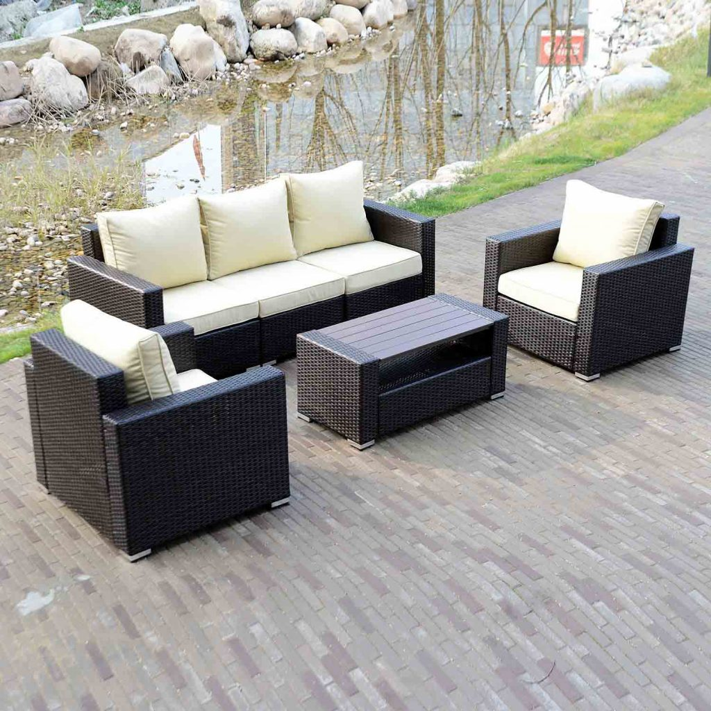 Walcut 6 Piece Wicker Sofa Set Outdoor Furniture Outdoor Sofa Sets