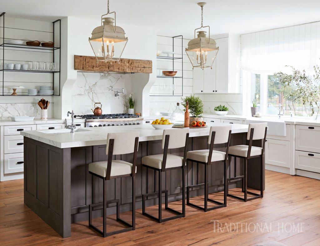 White Farmhouse Style Kitchen Traditional Home
