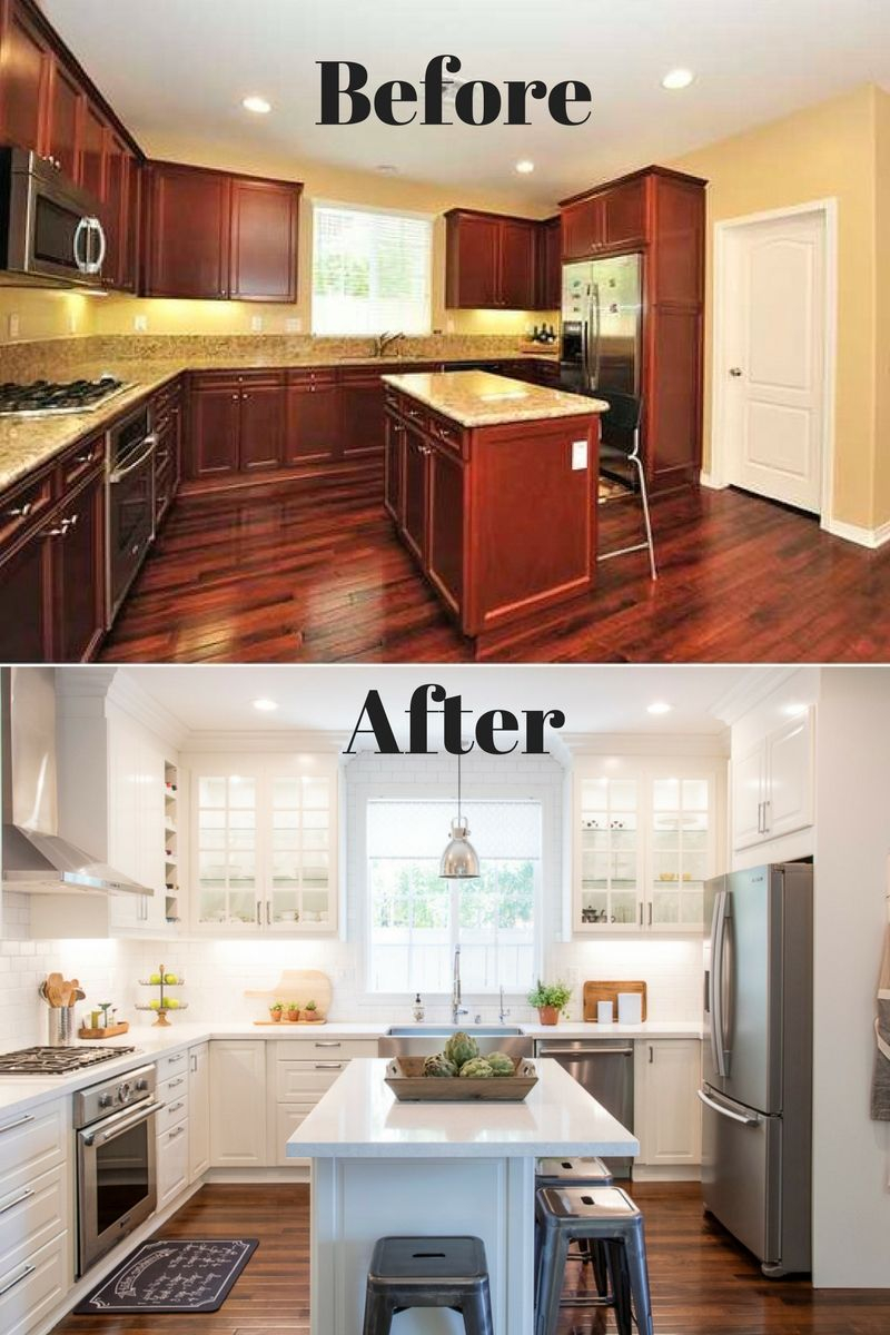 White Ikea Modern Farmhouse Style Kitchen Fixer Upper Before