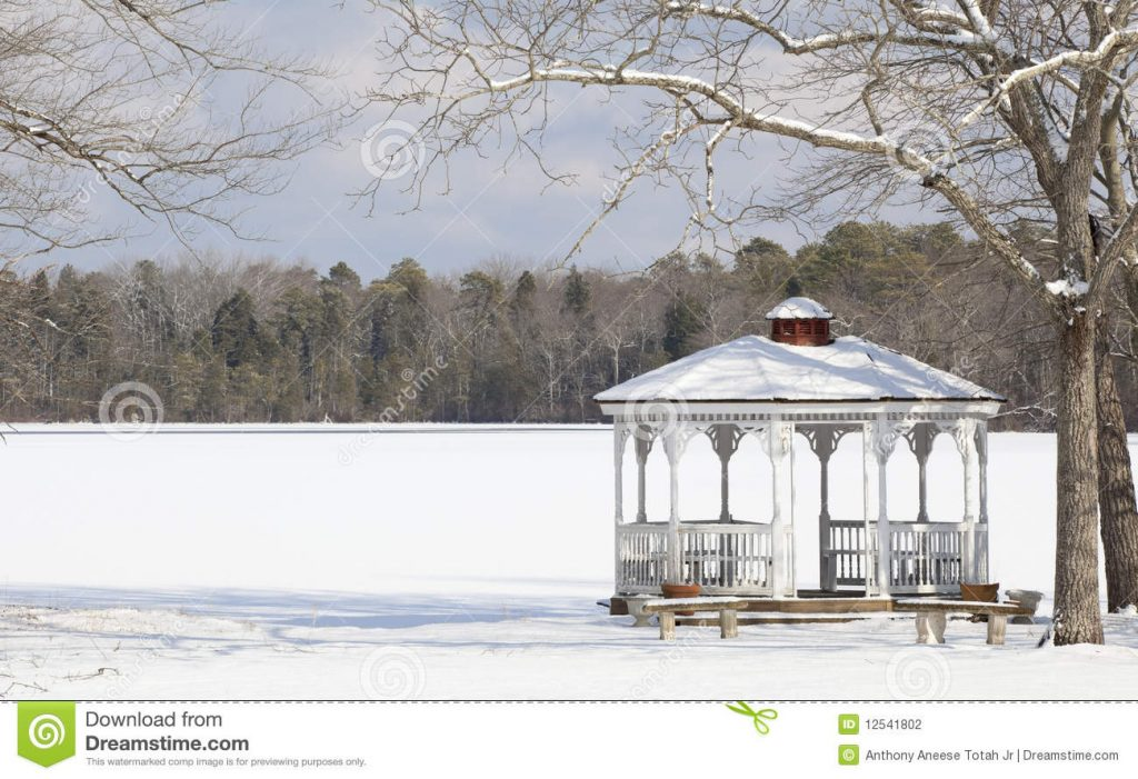 Winter Gazebo Stock Photo Image Of Picturesque Canopy 12541802
