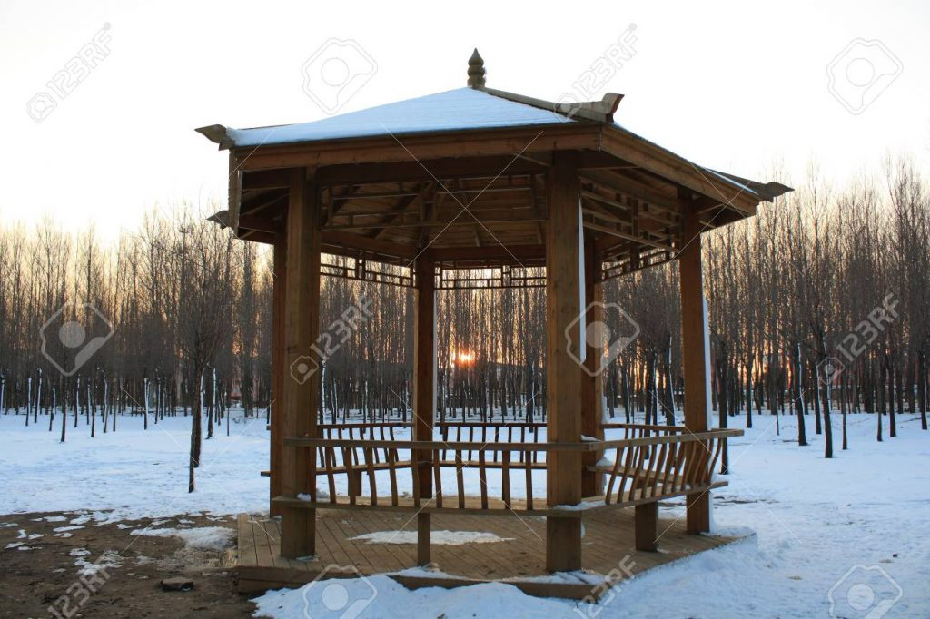 Winter Gazebo Stock Photo Picture And Royalty Free Image Image