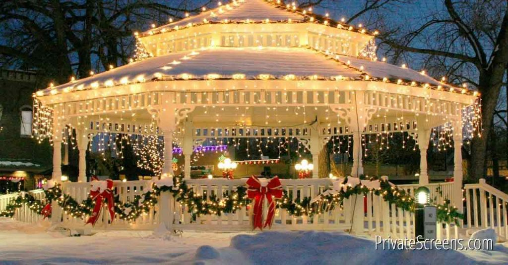 Winter Wonderland How To Stay Warm While Enjoying Your Gazebo This