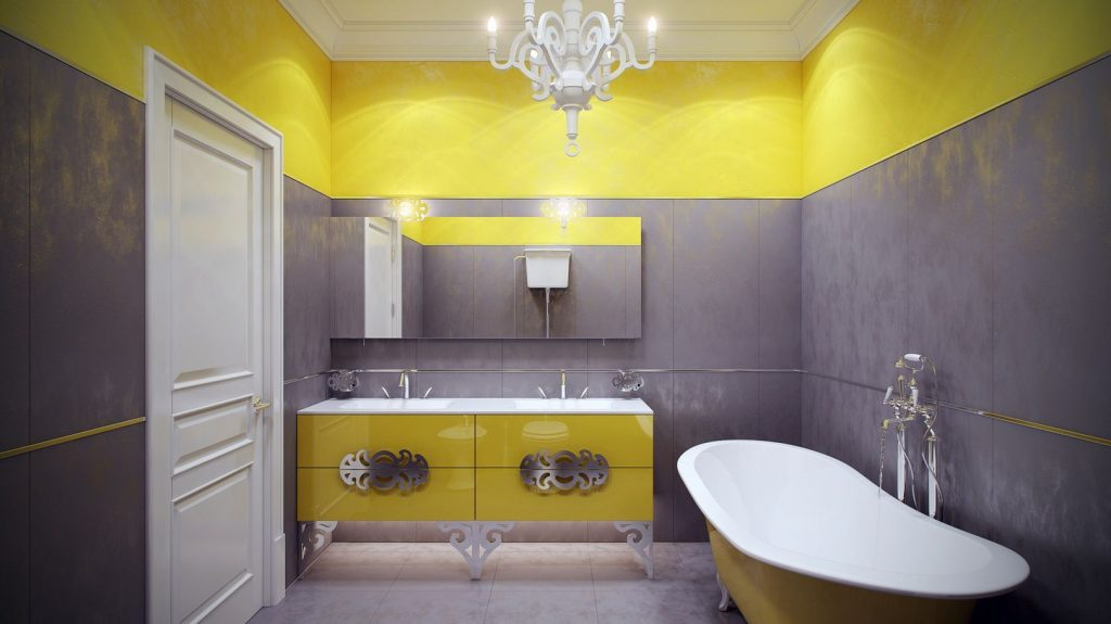 Yellow Bathroom Decor Powerful And Pretty Yellow Bathroom Design