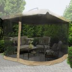 Outdoor Patio Umbrella with Screen
