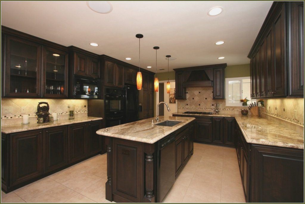 12 Gallery Cherry Wood Kitchen Cabinets With Black Granite