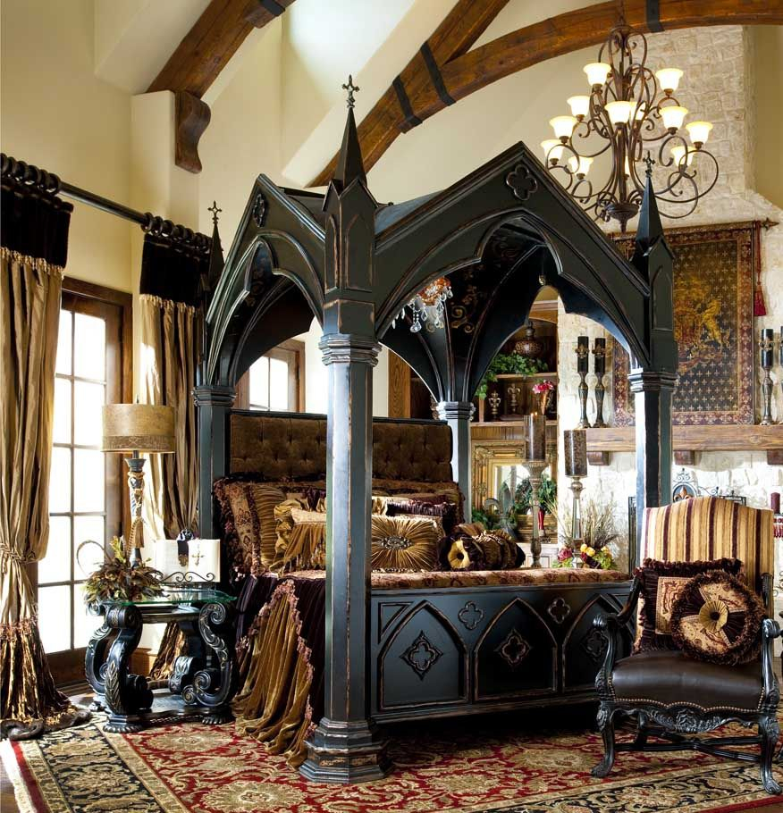 13 Mysterious Gothic Bedroom Interior Design Ideas Bedroom