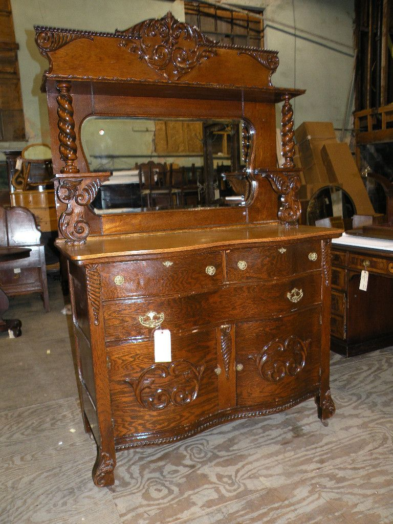1800s Sideboard Curved 3 Drawer 2 Doors Other Pinterest