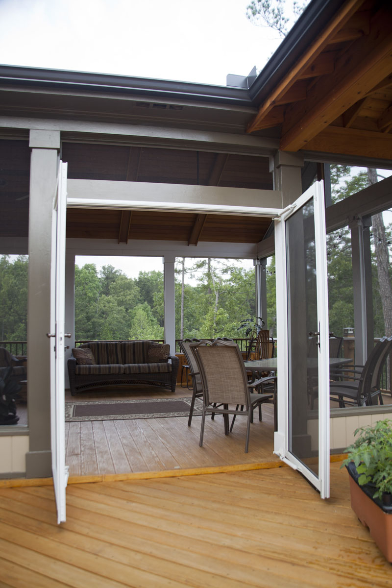19 Double French Screened Doors Leading Out Onto The Deck Tailor Decks