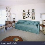 1950s 1960s Interior Living Room Decor Couch Sofa Chair Decorations