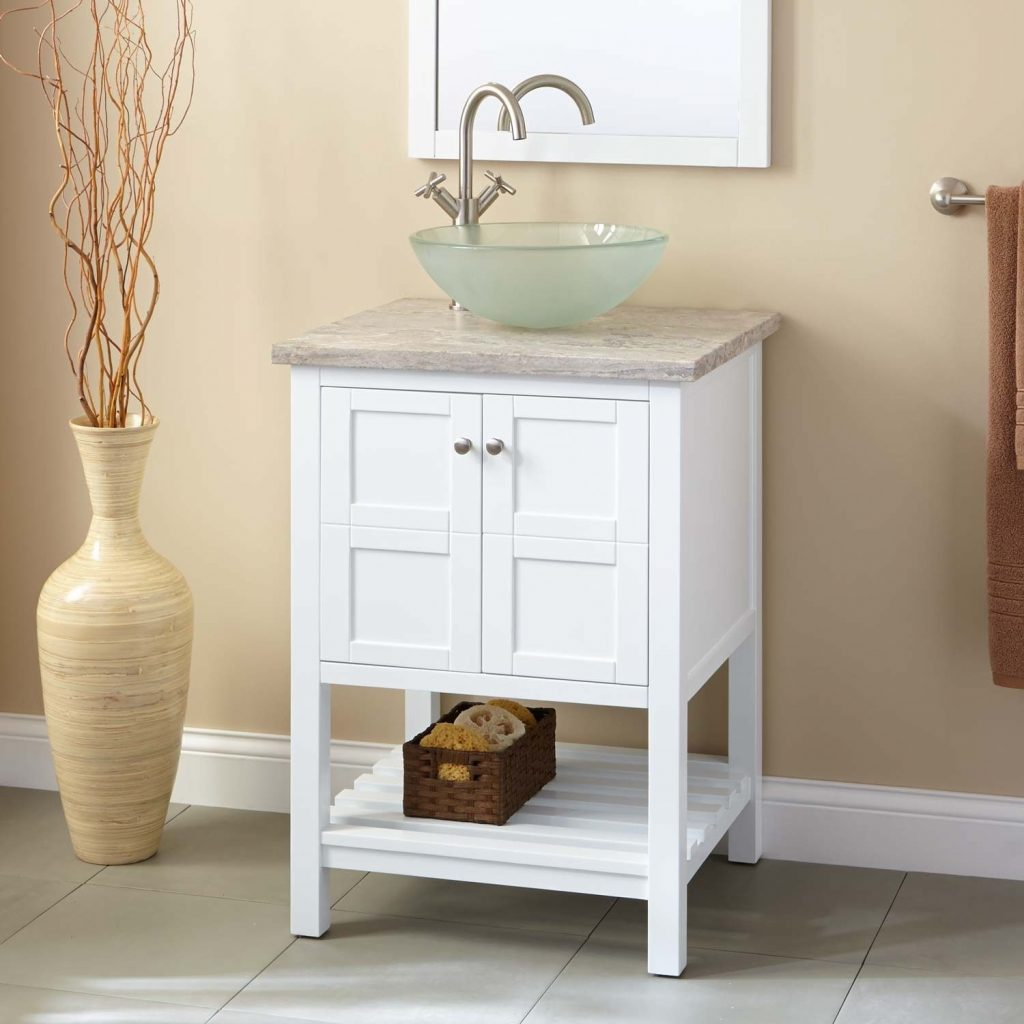 24 Everett Vessel Sink Console Vanity White In 2019 Home