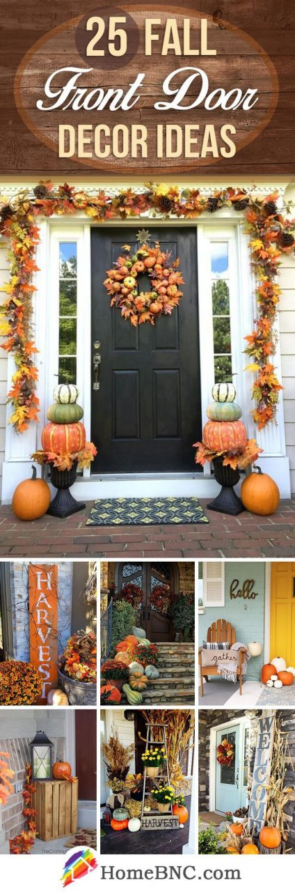 25 Adorable Fall Front Door Decor Ideas To Make A Fantastic First