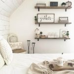 Farmhouse Bedroom Shelf Decor