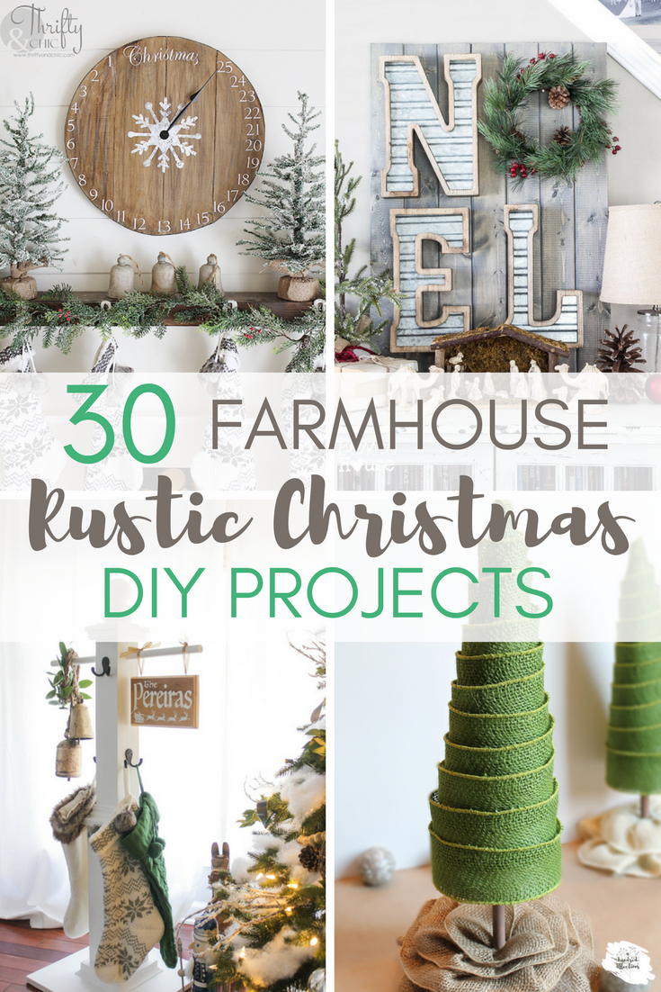 30 Rustic Farmhouse Christmas Diy Projects A Hundred Affections