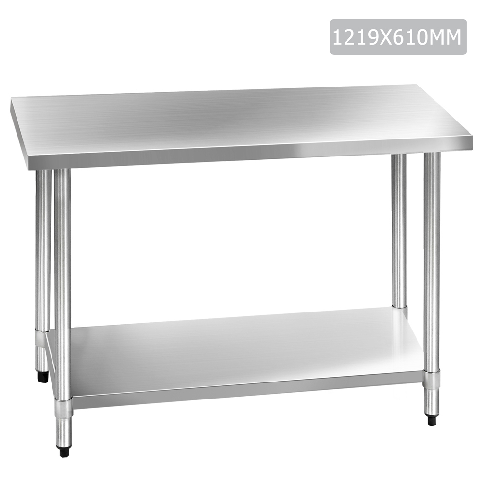 304 Stainless Steel Kitchen Work Bench Table Temple Webster