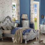 30675 Silver Finish Dresden Youth Bedroom Set Collection Victorian
