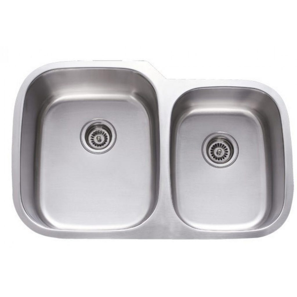 31 Inch Stainless Steel Undermount 6040 Double Bowl Kitchen Sink