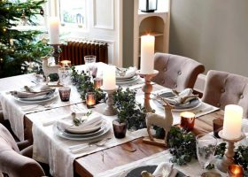Simple Christmas Decorations for Dining Room