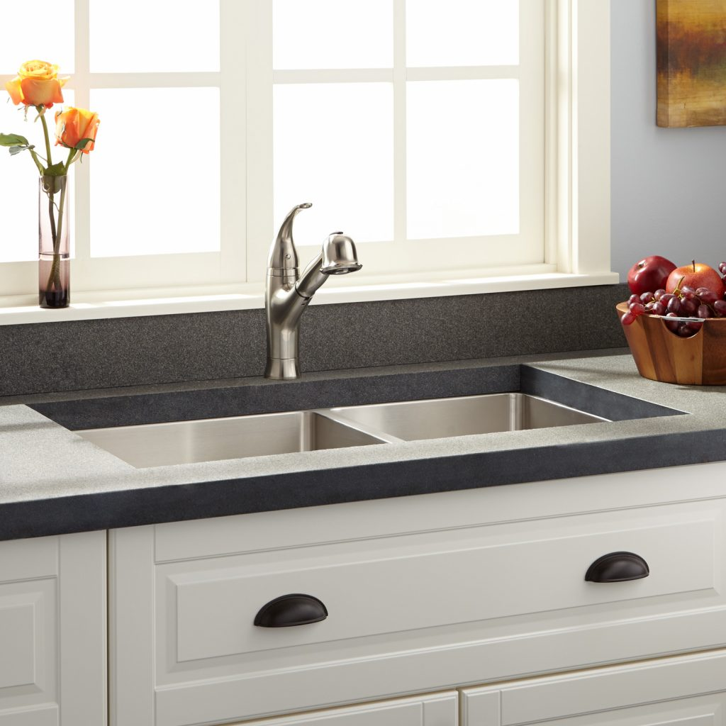 33 Optimum 6040 Offset Double Bowl Stainless Steel Undermount Sink