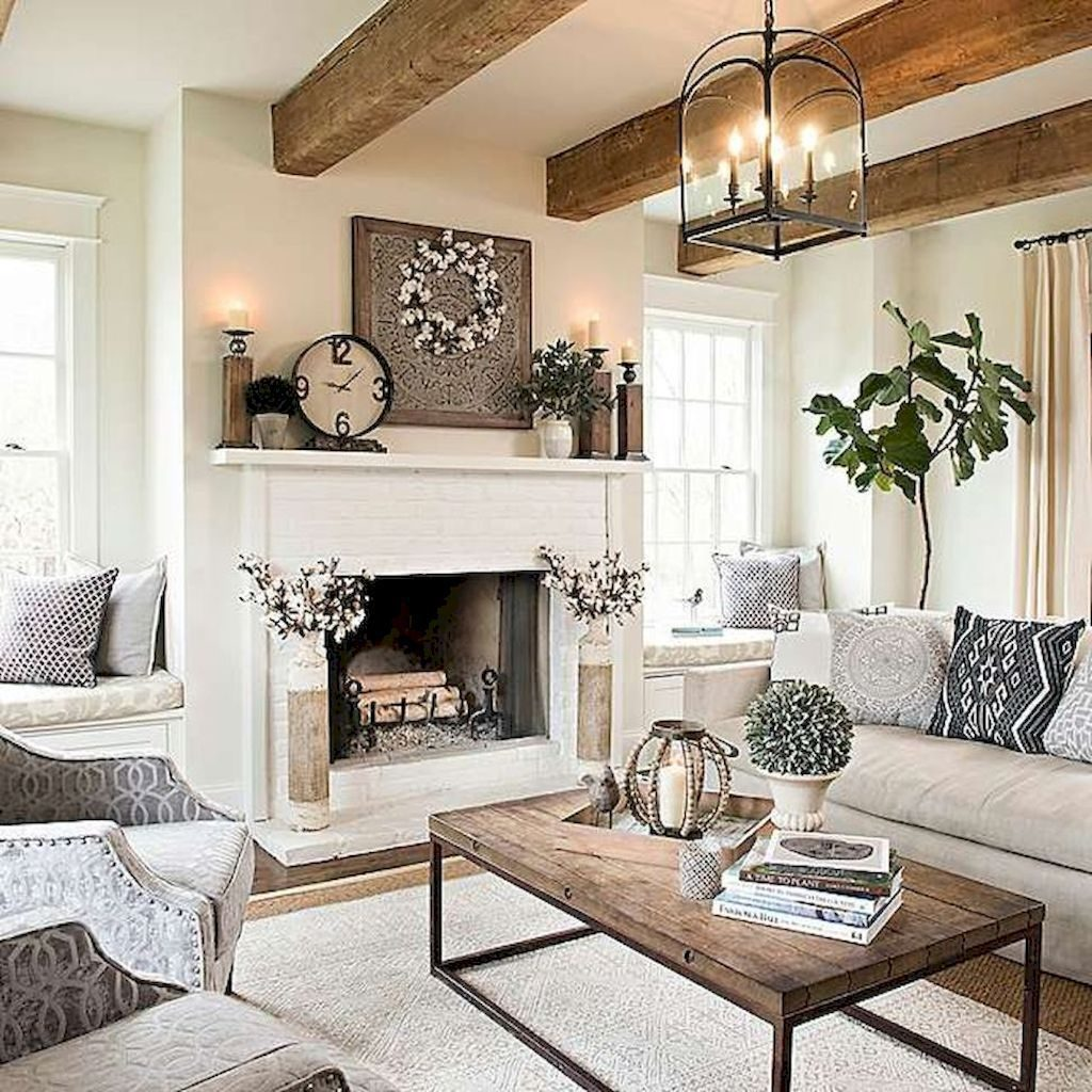 34 The Best Farmhouse Living Room Design Ideas In 2019 Fireplace
