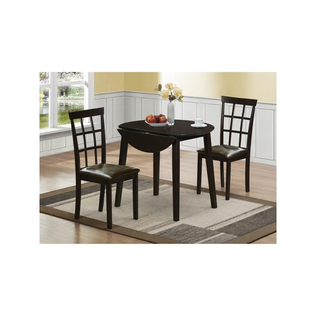 3pc Dining Set Brown Home Source Industries Chocolate Heather
