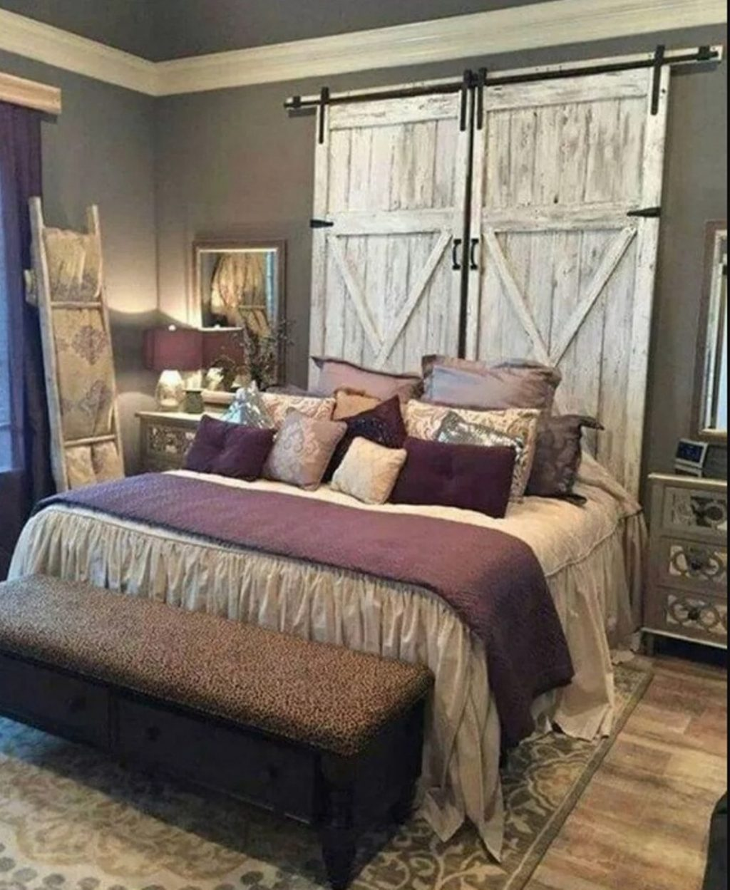 4 Romantic Rustic Farmhouse Master Bedroom Decorating Ideas Design