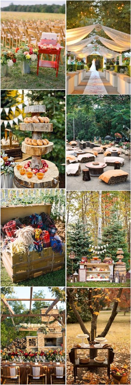 40 Amazing Outdoor Fall Wedding Dcor Ideas Deer Pearl Flowers