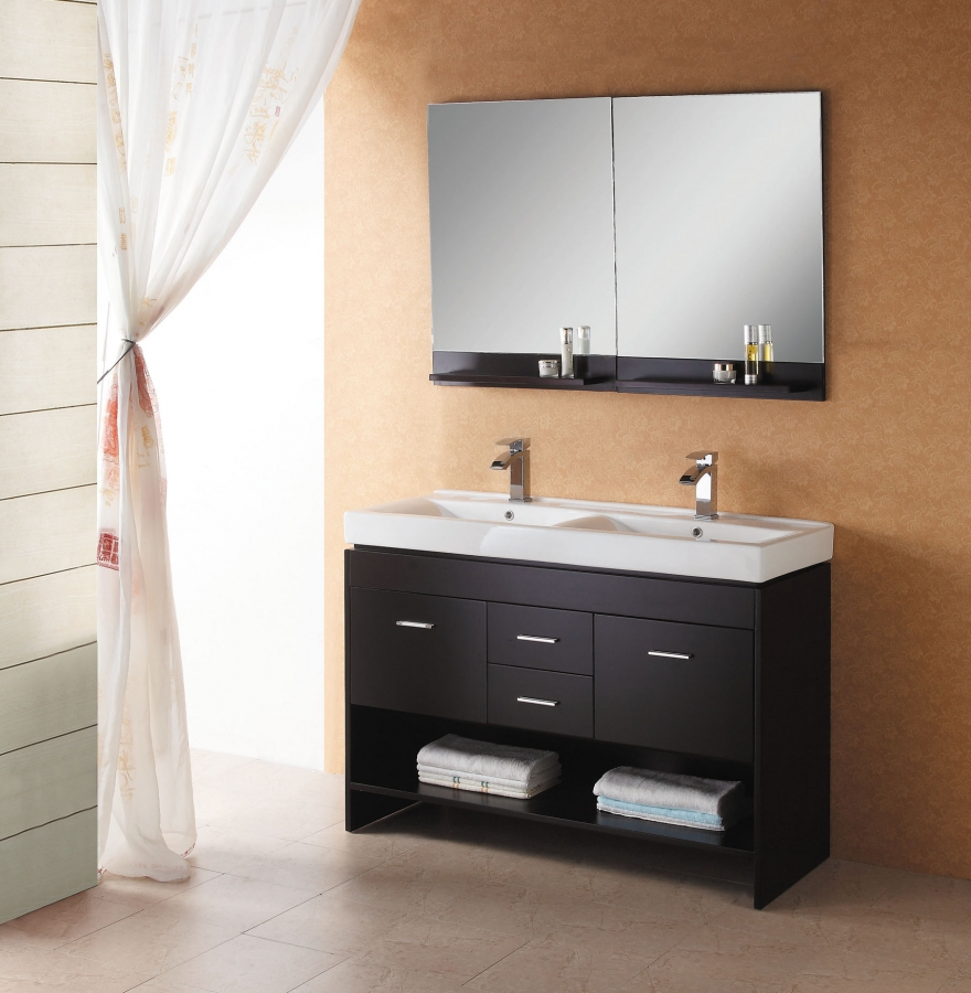 472 Inch Modern Double Sink Wall Mount Bathroom Vanity In